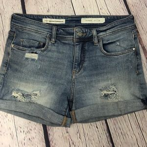 Pilcro and the letterpress jean shorts